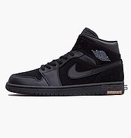 c2b5bb909fba Мужские баскетбольные кроссовки Nike Air Jordan 1 Mid Black 554724-050,  оригинал