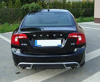 Накладка на задний бампер Volvo S60