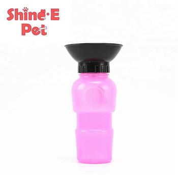 Портативная поилка PET BOTTLE  прогулочная бутылка с чашей для собак 500 мл
