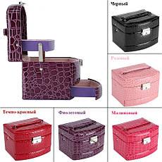 Шкатулка - автомат (трансформер) для прикрас фіолетова (15,5-13-12см), фото 2