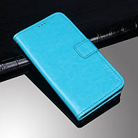 Чехол Idewei для Xiaomi Redmi Note 6 Pro книжка кожа PU голубой