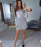 Платье мини с бахромой