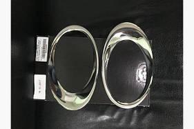 Накладки на противотуманки (2 шт, нерж) - Ford Custom 2013+ гг.