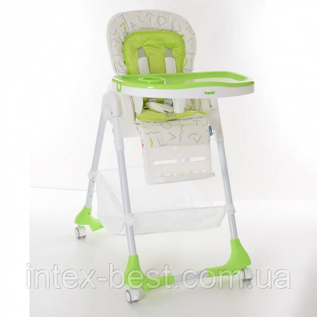 Детский стульчик для кормления Bambi M 3822-1 (Салатовый)