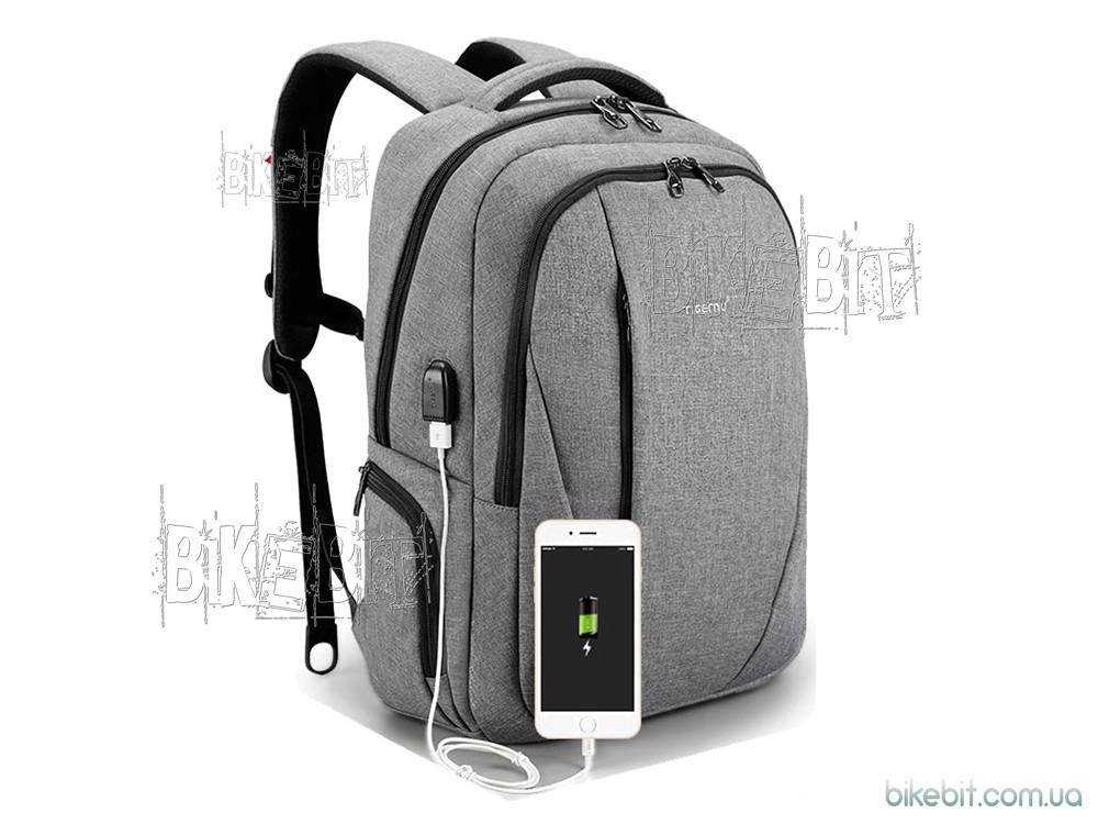 Рюкзак городской Tigernu T-B3399 USB black Серый