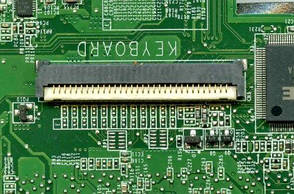 Клавиатурный разъем для ноутбуков НР envy 15-e, 15-n - 32 pin шаг 1мм - Quanta, фото 2