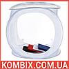 Лайт-куб, лайтбокс складной 75х75х75 см для предметной съемки + чехол