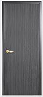 Двери межкомнатные Сакура ПГ с гравировкой Серый ПВХ DeLuxe