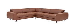Угловой диван кожаный раскладной  308х75х272