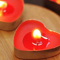 Свечи в виде сердца 50 шт