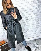 Женская длинная куртка стильная, фото 1