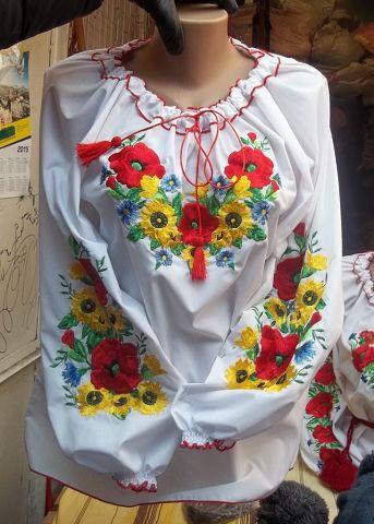 Недорогая вышиванка для девочки р.146-170