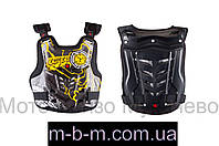 Захист жилет, розмір: XL, чорно-жовтий, SCOYCO