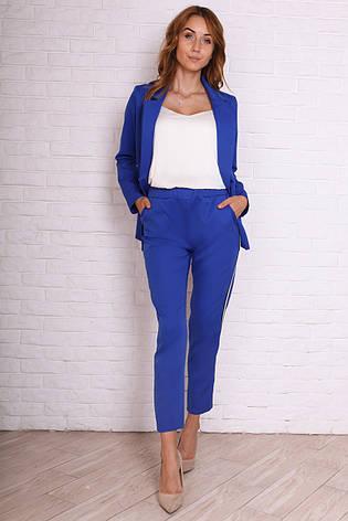 70b71d0f79f Модный классический женский брючный костюм электрик  продажа