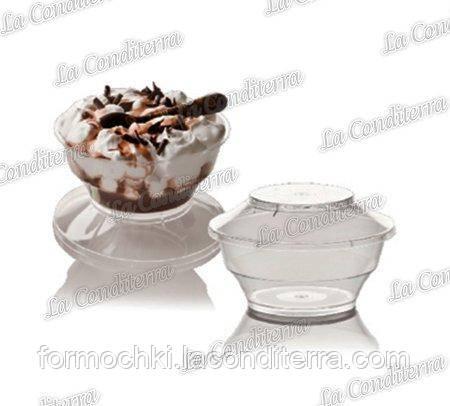 Прозрачная креманка с крышкой «Primula» 166+166C (200 мл)