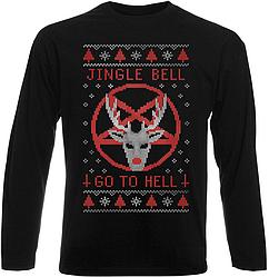 Футболка с длинным рукавом Jingle Bell Go To Hell (чёрная)