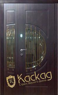 Двери входные со стеклом Адамант полуторные серии Элит Каскад