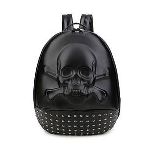 Черный объемный рюкзак Череп