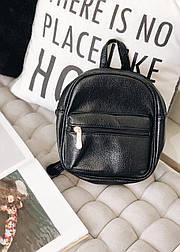 Сумка рюкзак черный эко-кожа №285
