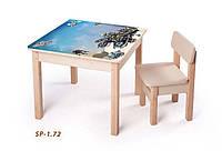 Стол-парта для с фотопечатью SP-1.72 Венге светлый (ТМ Вальтер)