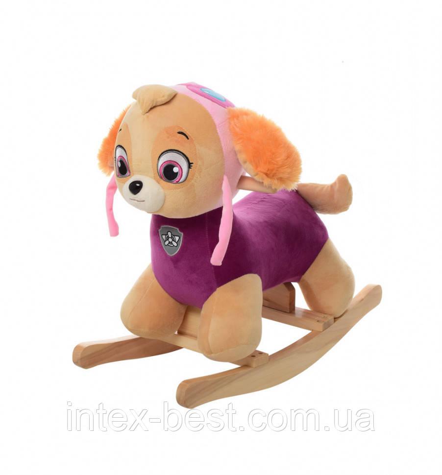 Качалка щенячий патруль  0084P (розовая)