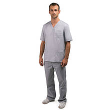 Медицинский костюм мужской Гранит серый