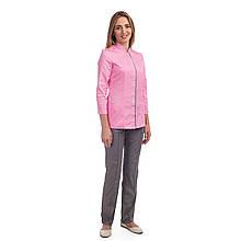 Медицинский женский костюм Сакура розовый-серый 40-54