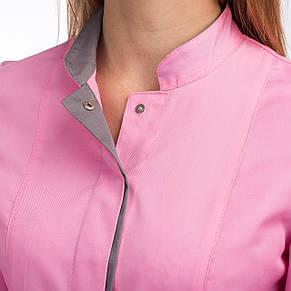 Медичний жіночий костюм Сакура рожевий-сірий 40-54, фото 2