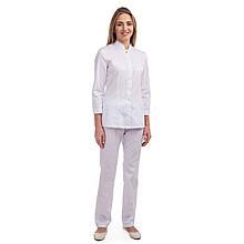 Медицинский женский костюм Сакура белый 40-54