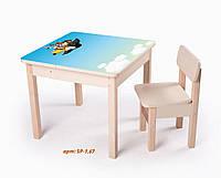 Стол-парта для с фотопечатью SP-1.67 Венге светлый (ТМ Вальтер)