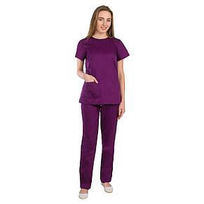 Медичний жіночий костюм Жасмин фіолетовий 40-48, фото 2