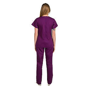 Медичний жіночий костюм Жасмин фіолетовий 40-48, фото 3