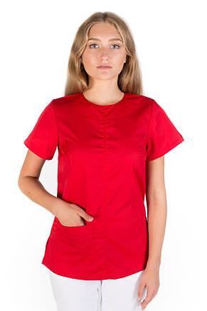 1260810eda0 Медицинский женский костюм Жасмин красный-белый  продажа