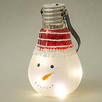 """Новогодний фонарик """"Снеговик"""", 9х15см (с подсветкой) 055NB"""