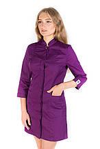 Медицинский халат Сакура фиолетовый 40-54