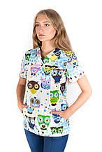 Медицинский женский костюм Топаз принт размер 40