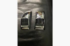 Решетка на повторитель `Прямоугольник` (2 шт, ABS) - Ford Custom 2013+ гг.