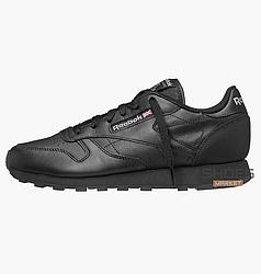 Мужские кроссовки   Reebok Classic Leather Black 2267