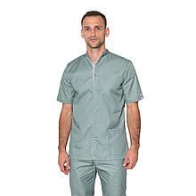 Медицинский костюм мужской Лондон оливка-серый