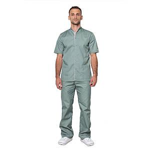 Медицинский костюм мужской Лондон оливка-серый, фото 2