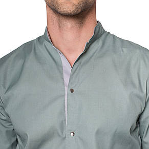 Медицинский костюм мужской Лондон оливка-серый, фото 3