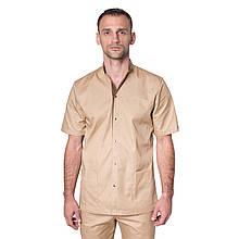 Медицинский костюм мужской Лондон песок-шоколад