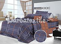 Полуторный комплект постельного белья 150*220  из сатина Милые Фламинго