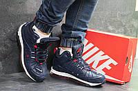 Мужские зимние кроссовки Nike 6901 темно синие, фото 1