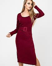 Женское платье из ангоры с поясом (Карина leо), фото 2
