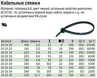 Кабельные стяжки, полиамид 6.6, черный  haupa