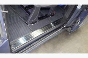 Накладки на внутренние пороги OmsaLine ( 3 двери, нерж) - Ford Custom 2013+ гг.