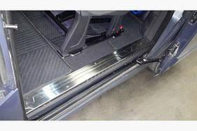 Накладки на внутренние пороги OmsaLine ( 4 двери, нерж) - Ford Custom 2013+ гг.