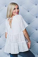 Женская блуза хлопковая белая