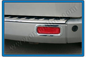 Окантовка задних рефлекторов (2 шт, нерж.) - Ford Custom 2013+ гг.